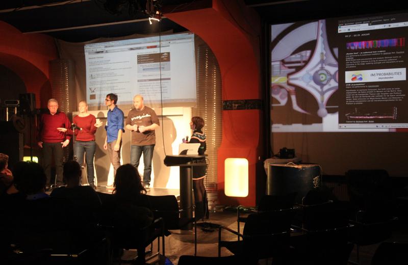 Perter, Lena, Andi, macro & Moderatorin Claudia  (Fr)