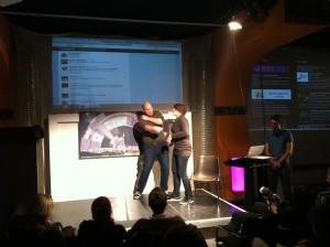 Impro-Theater mit Twitter-Wall